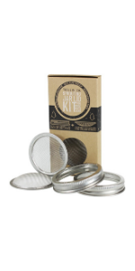 stainless steel sprouting jar lid kit for wide mouth mason jars trellis amp; co. + and handy pantry