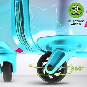 4 ruedas giratorias de 360 grados para dar comodidad incluso durante el transporte