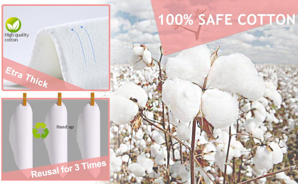 Fragrance-free lint-free and very hygienic cotton wipes with no harmful chemicals