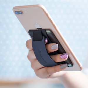 smart grip silicon phone holder for hand finger loop flap case gadget