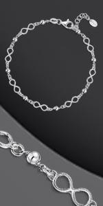 Bracciale in argento con nodo infinito