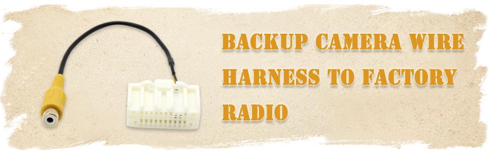 Backup Camera Video Input Harness,AV Plug to Display