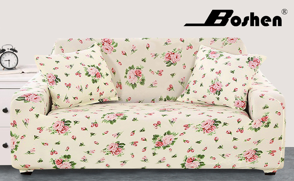 Sofa cover cover sofa irge Heart Love Quilted Armrests 4 seater beige