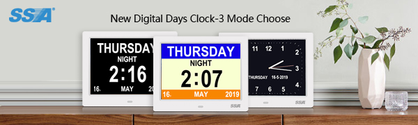 Digital days clock