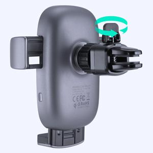 AUKEY Caricatore Wireless Auto Auto-Bloccaggio Qi Caricabatterie Ricarica Rapida Supporto 10W/7.5W/5W per iPhone 11 PRO Max/11/X/8Plus, Samsung Galaxy S10/S9/Note 8, Huawei Mate P20/30 PRO e Altri