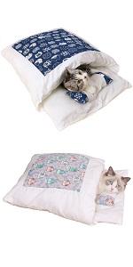 猫 ベッド 布団 寝袋