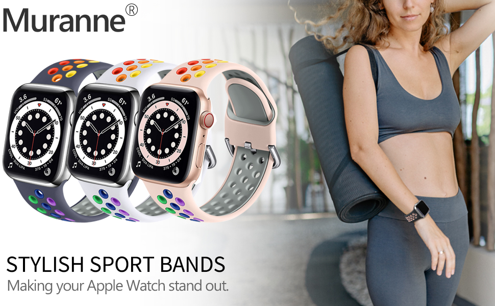 Muranne Compatible with Apple Watch Band 40mm 38mm iWatch SE & Series 6 5 4 3 2 1 for Women Men