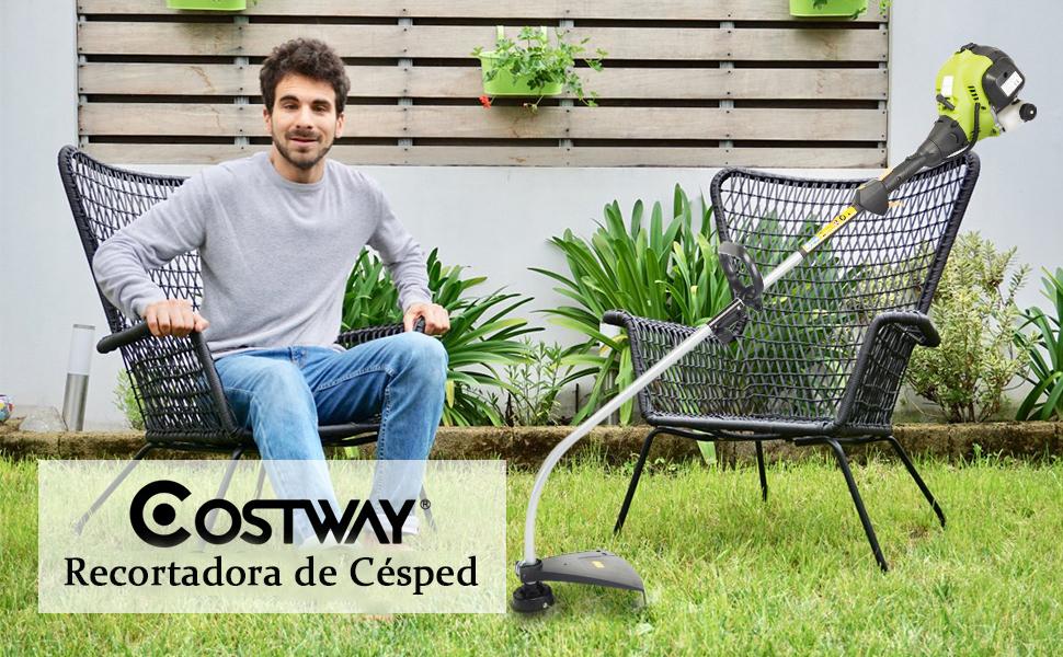 COSTWAY Recortadora de Césped de 25 CC Gasolina Profesional ...