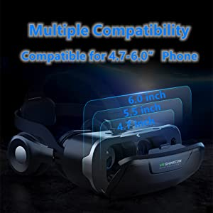 Compatible for 4.7-6.0 inch smart phone