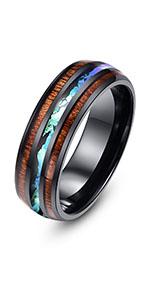 Hawaiian Koa Wood ring