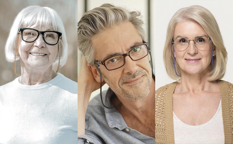 Amazon.com: Eyeglasses Holder Strap Cord - Premium ECO Leather Eyeglasses  String Holder Chain Necklace - Glasses Cord Lanyard - Eyeglass Retainer:  Health & Personal Care