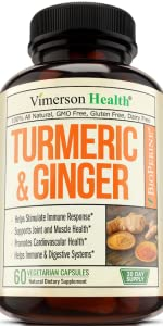 Turmeric Curcumin with Ginger, Bioperine