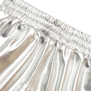 metallic shorts with elastic waist