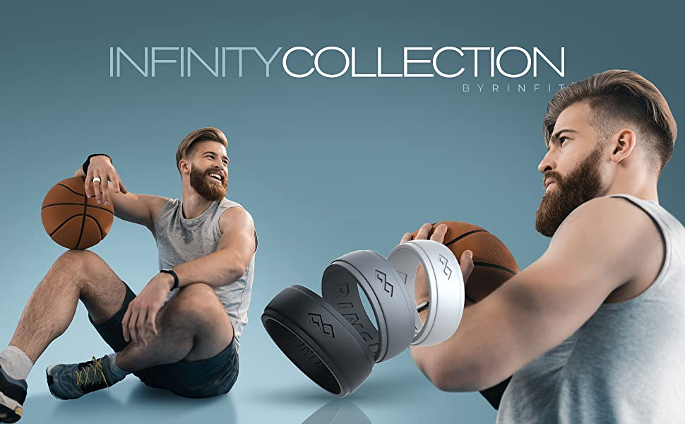 silicone wedding rings for men by rinfit rings