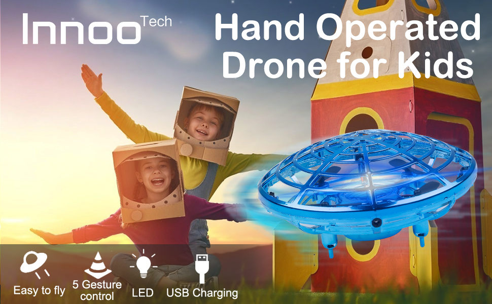 Innoo Tech Hand Operated Drones for Kids or Adults