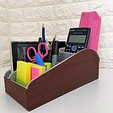 office stationery holder office stationery organiser brown organiser remote control holder