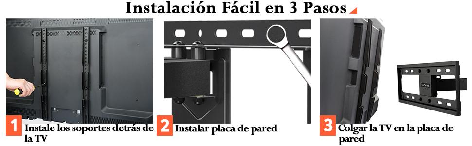 Eono by Amazon - Soporte TV Pared Giratorio y Inclinable para la ...