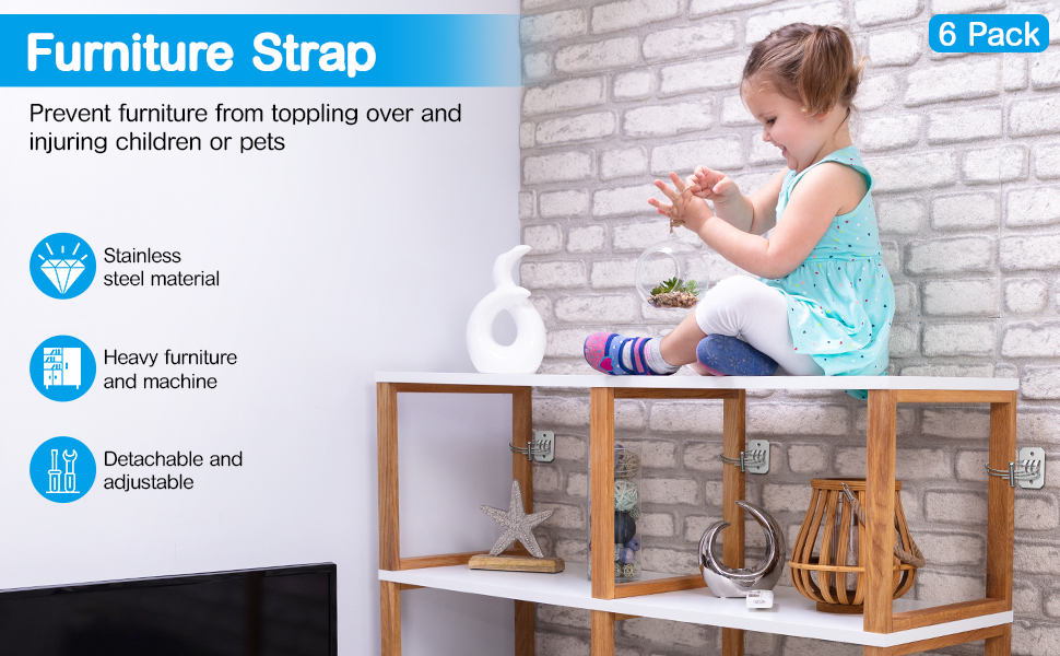 furniture straps wall straps anti tip furniture kit furniture anchors baby safety straps