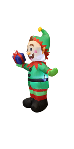 5 Foot Elf with Present Inflatable