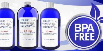 Colloidal Silver in blue bottles