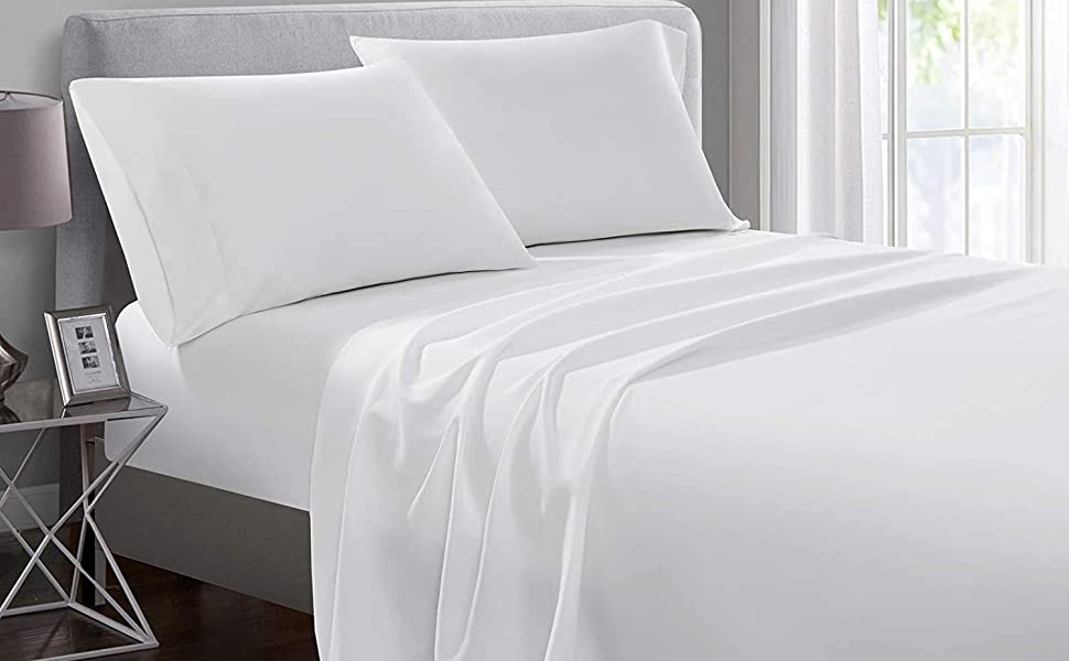100 % cotton bed sheets Set , 4 piece cotton sheet sets, 4 piece premium sheet set cotton queen