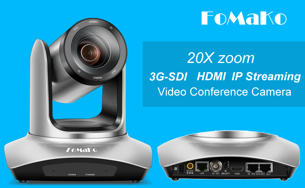 FoMaKo 20xzoom 3G-SDI HDMI iP streaming video conference room camera