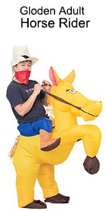golden adult horse rider costume
