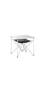 Uquip Mercy - Mesa Camping Plegable de Aluminio para 4 ...