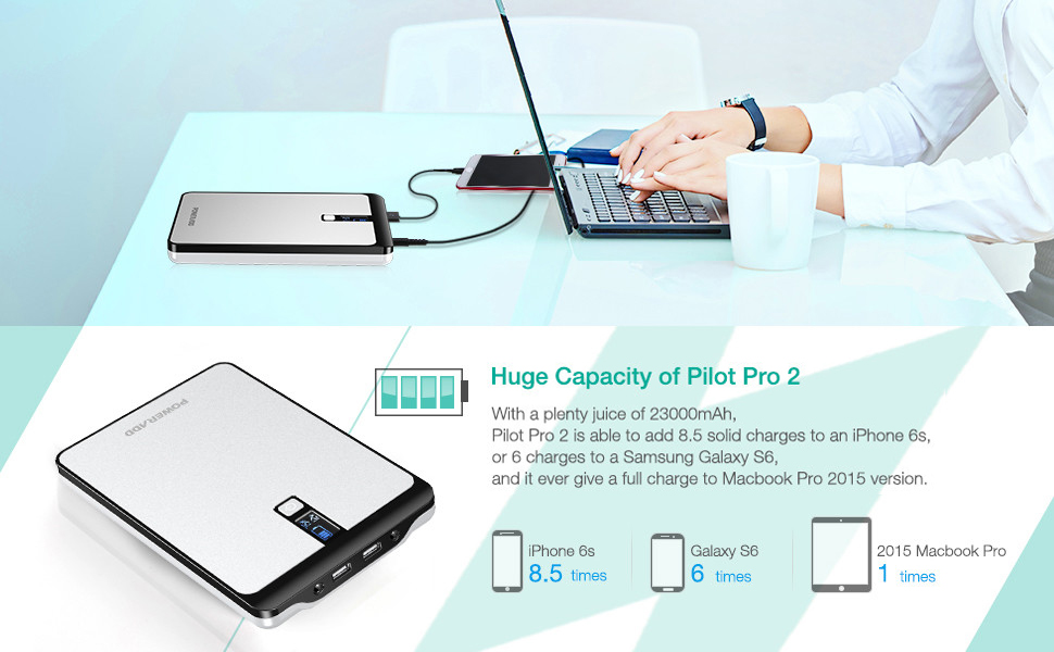 External Battery with LCD Display for MacBook, Laptops, Smartphones and Tablets