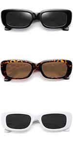 retro vintage small rectangle sunglasses womens sunglasses