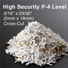 high security P-4 paper shredder