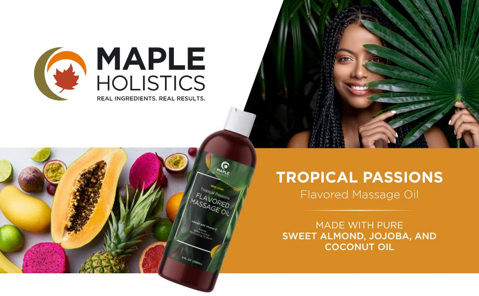 Tropical flavored massage oil 1