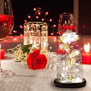 Forever Rose Glass Decoration