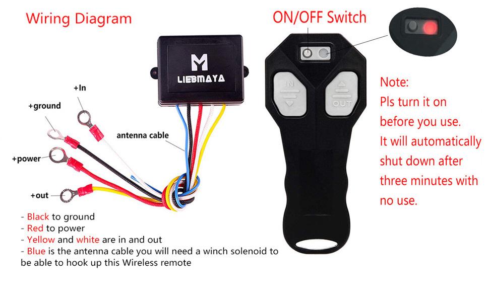 Amazon Com Liebmaya Wireless Winch Remote Control Kit For Truck Jeep Atv Suv 12v Switch Handset Waterproof Home Audio Theater