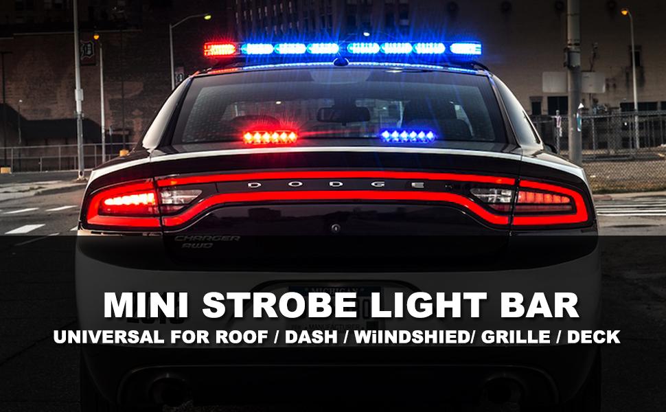 Roof / Dash / Windshield / Grille / Deck Universal Strobe Lights