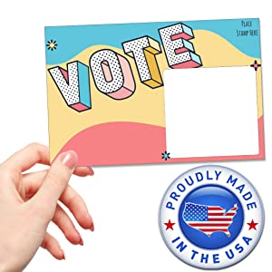 Your Vote Matters Voter Postcards for Elections in Your State and District with stamps democrat