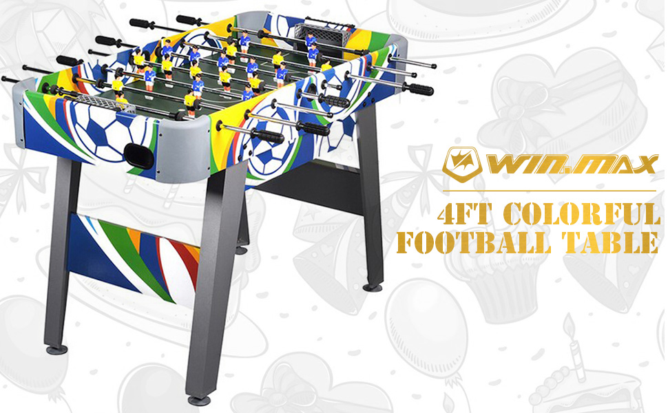 WIN.MAX Mesa de fútbol 4 pies Fútbol Colorido Juego de futbolín ...