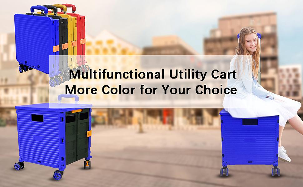 Blue Utility Cart