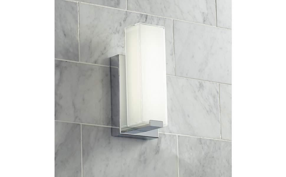 "Possini Euro Savona 10 3/4"" High Chrome LED Wall Sconce"