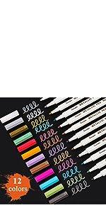 12 Colors Fine Point