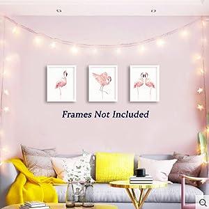 pink flamingo wall decor