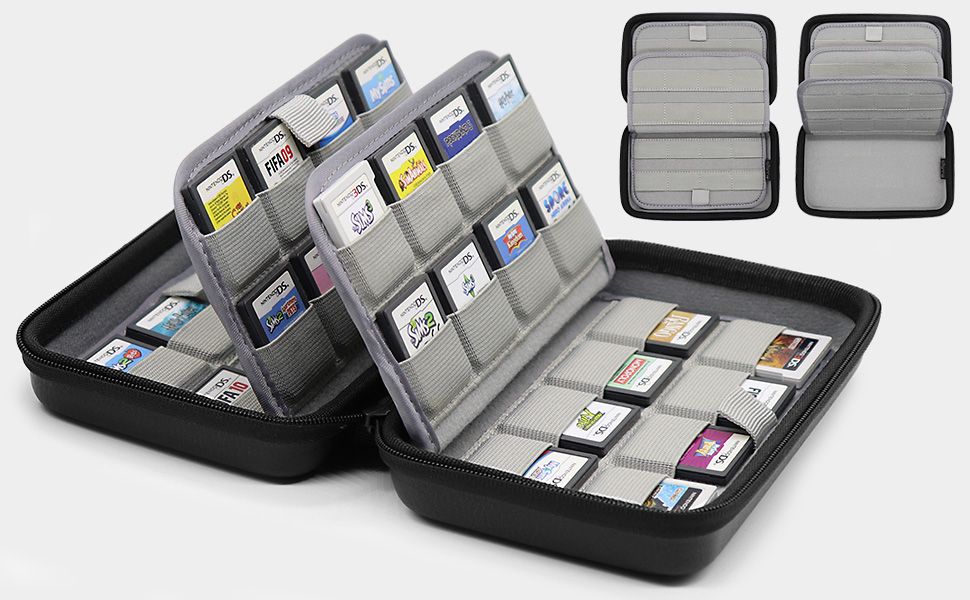 nintendo 3ds 2ds ds dsi switch game card holder cartridges storage case