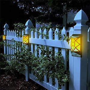 solar fence post light