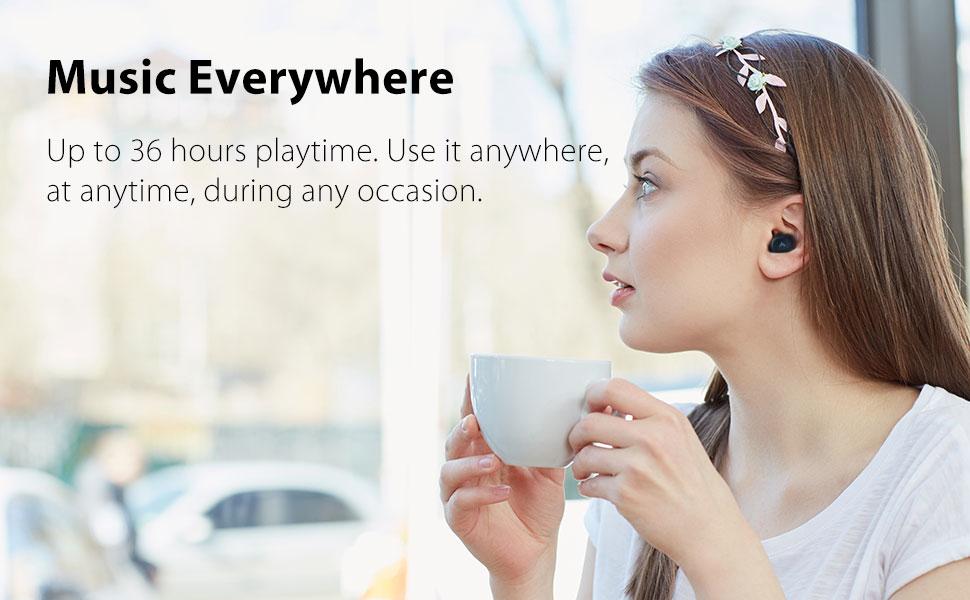 music true wireless earphones