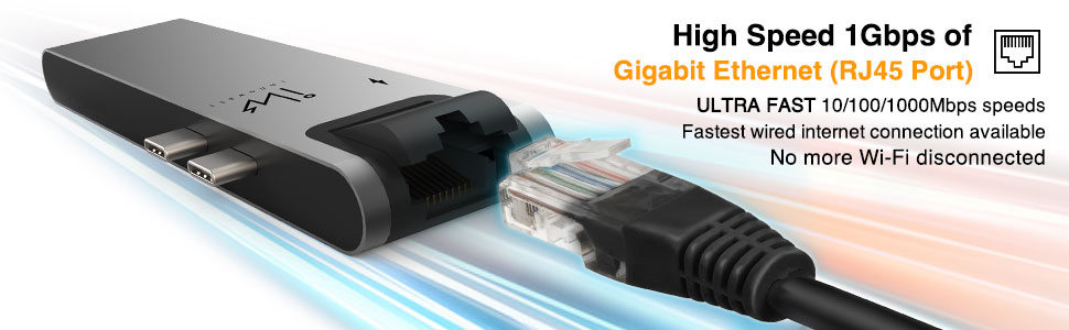 High Speed Gigabit Ethernet network port in office, cafe, restaurant, home and anywhere