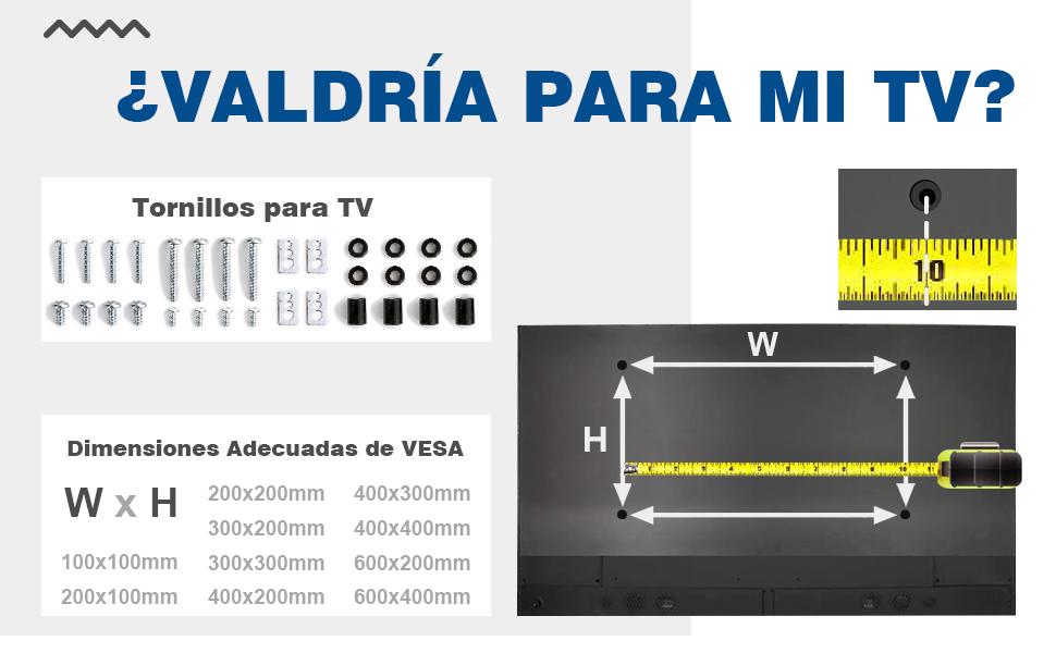 RFIVER Soporte TV de Suelo Pie para Television de 32 a 65 Pulgadas ...