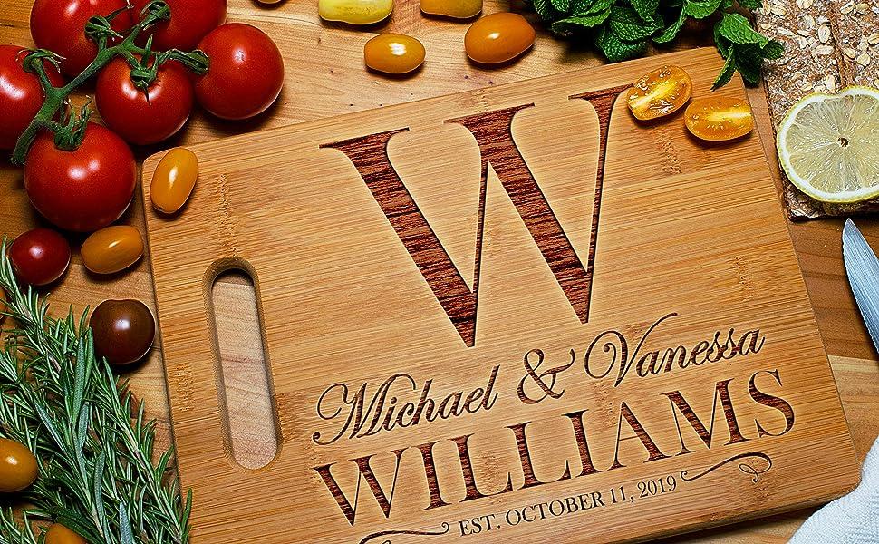Amazing Items Personalized Cutting Board Custom Laser Engraved Walnut Cutting Board
