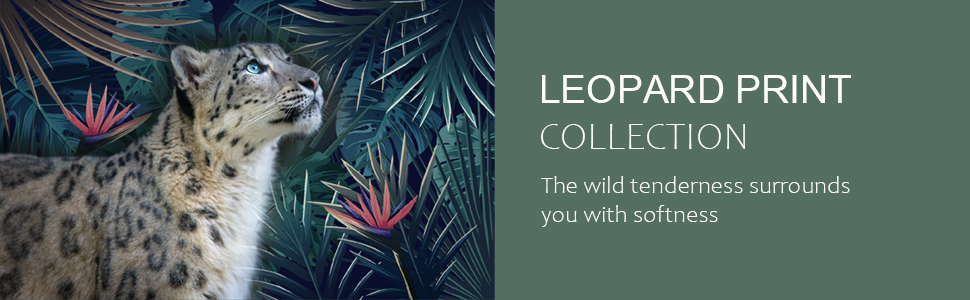 lepoard throw pillow covers