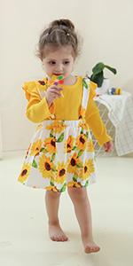 2pcs infant toddler girls suspends skirt set