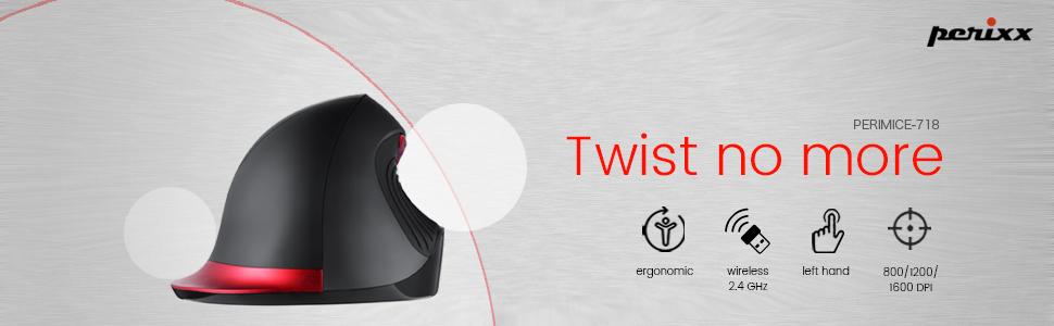 Perixx Perimice 718 Ergonomische Linkshänder Maus Computer Zubehör